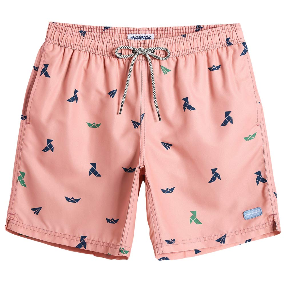 1f71c28a10816 MaaMgic Mens Slim Fit Quick Dry Short Funny Pattern Swim Trunks with Mesh  Lining 850735