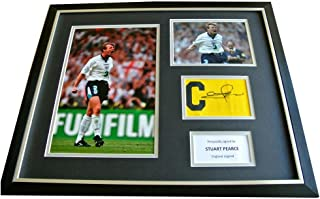 Sportagraphs STUART PEARCE hand SIGNED & FRAMED Huge Captains Armband Photo Display PROOF COA