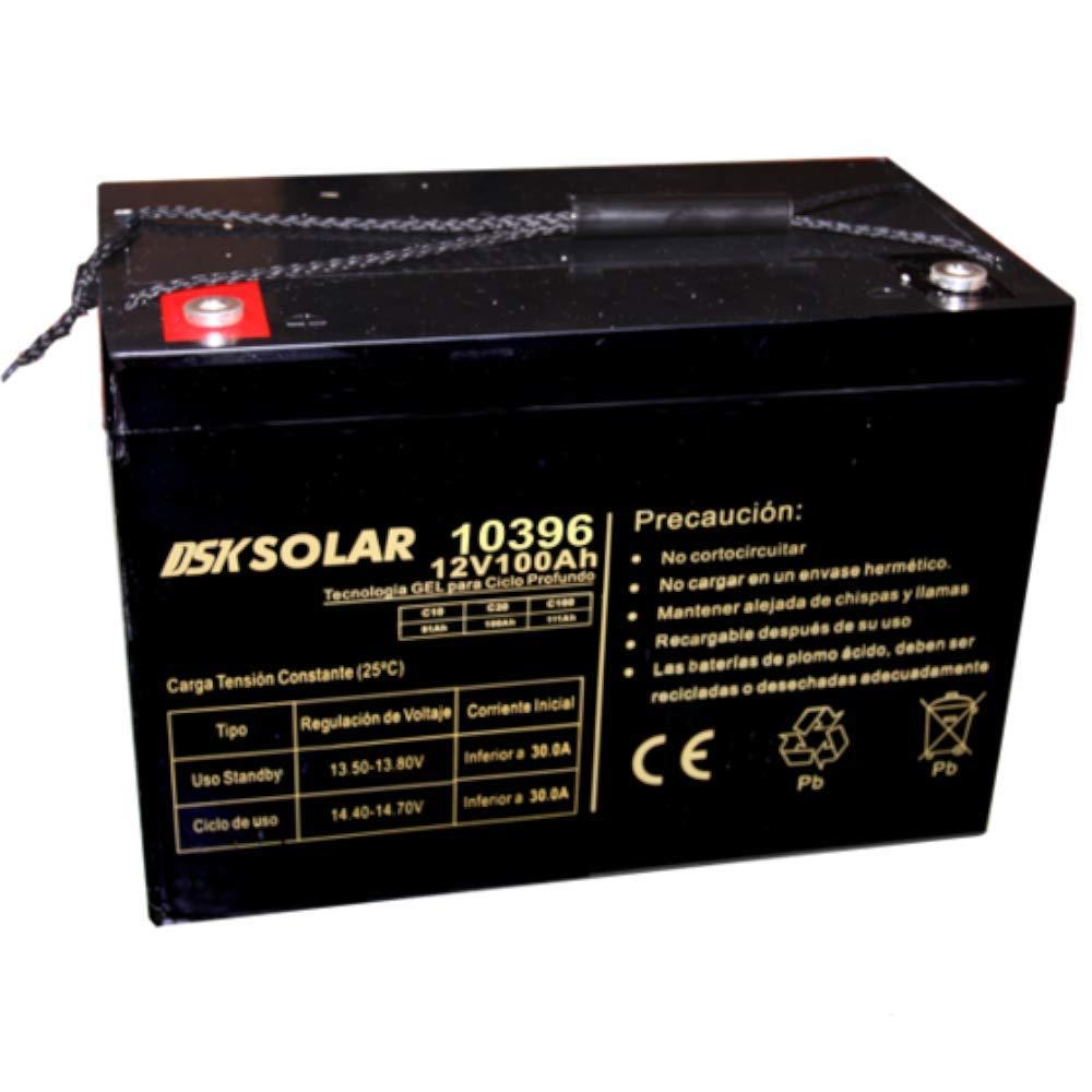 DSK Solar BGDC12100 Batería GEL para Ciclo Profundo 12V 100Ah Ideal para Placas Solares
