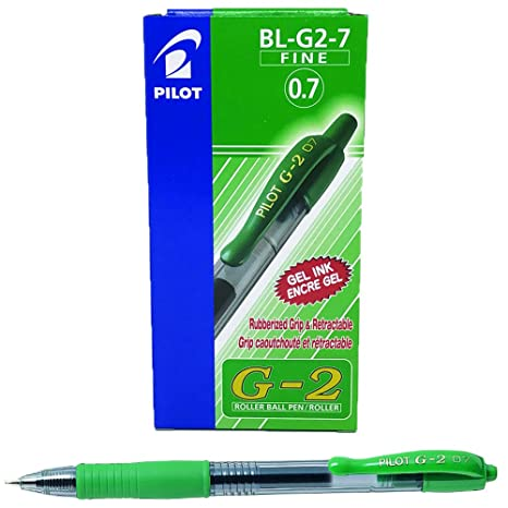 Box of 12 Black Pilot G207 Retractable Gel Rollerball 0.7 mm Tip