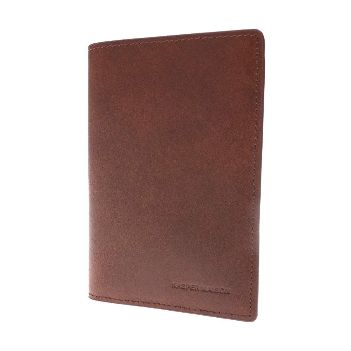 Kasper Maison Italian Leather Passport Holder – Travel Document Case with anti theft RFID Blocking – Signature Gift included