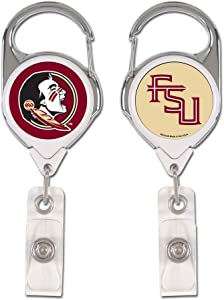 WinCraft NCAA Florida State Seminoles Retractable Premium Badge Holder, Team Color, One Size