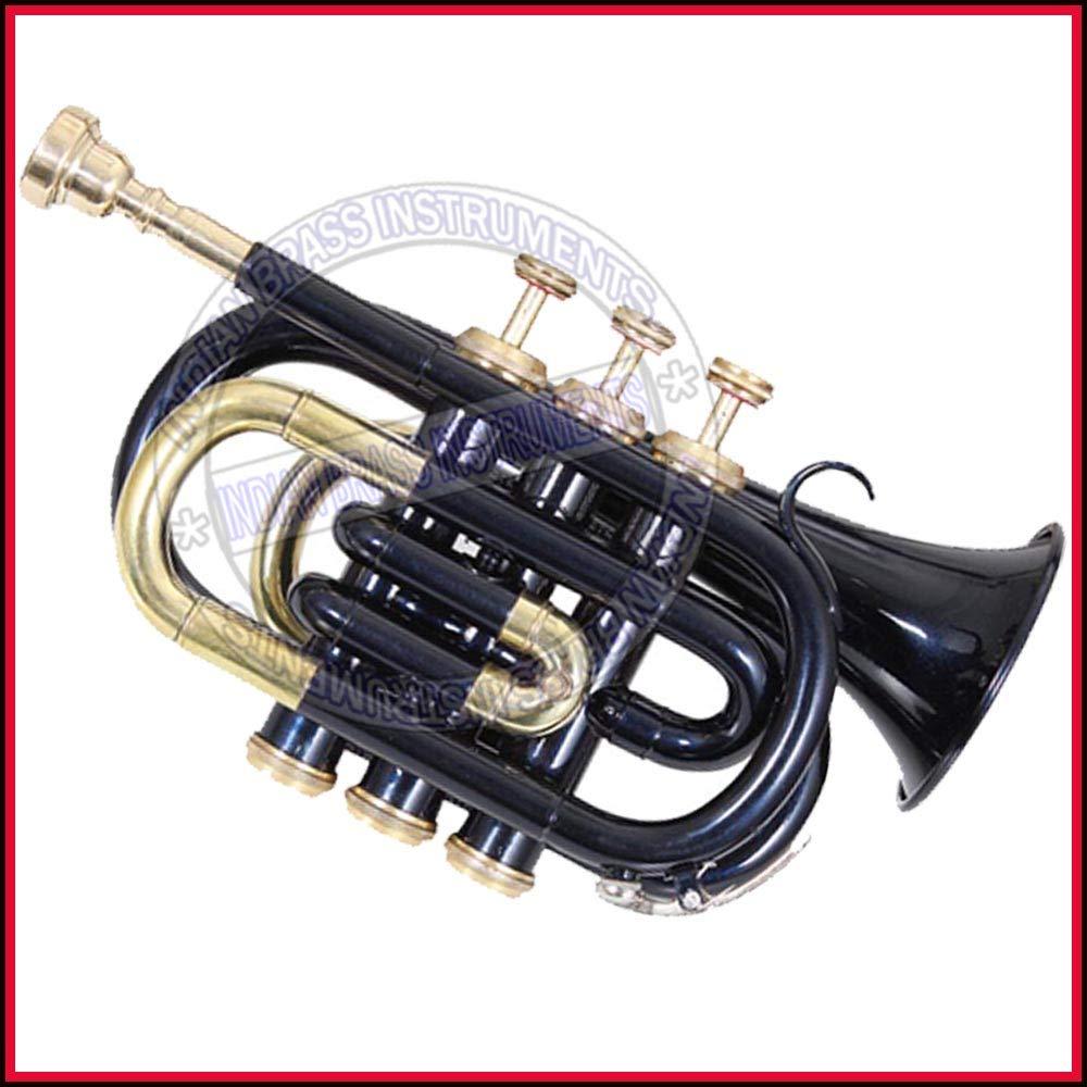 Nasir Ali Ptr-10 Pocket Trumpet B-Flat Black