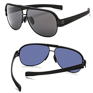 Gafas De Sol Polarizadas para Hombres Big Box Blue Glass Glasses Lente De La Vendimia Lente