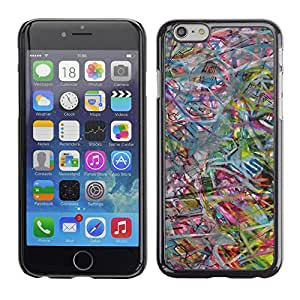 PC/Aluminum Funda Carcasa protectora para Apple Iphone 6 Plus 5.5 Abstract Art Pastel Color / JUSTGO PHONE PROTECTOR