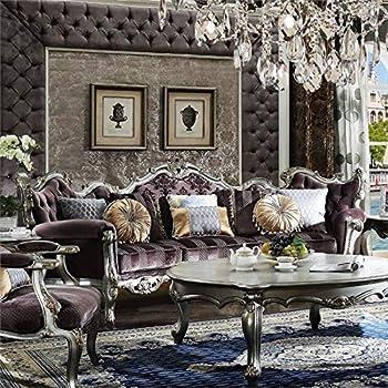 Amazon Com Acme Furniture 53465 Picardy Sofa With 8