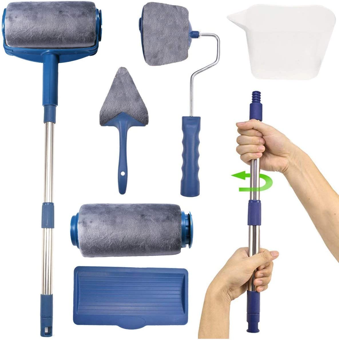 PAINT ROLLER KIT SET with Tray Painting Runner Decor New