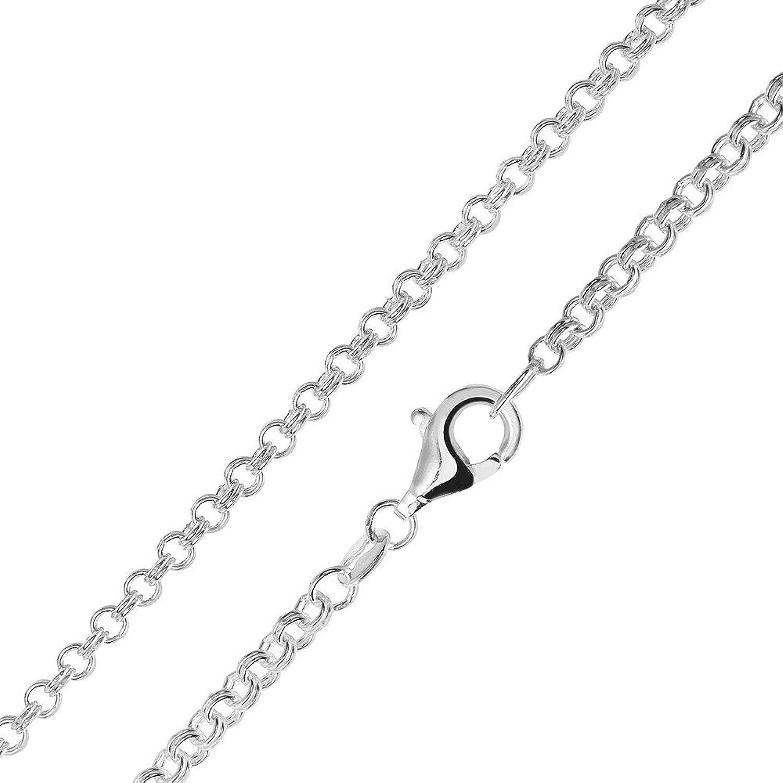 Silber kette  MATERIA Zwillings Ankerkette silber 925 - Halskette Damen Herren 2 ...