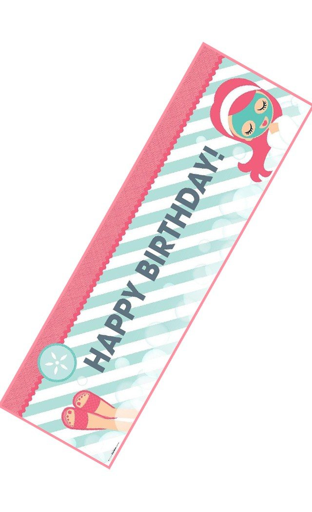 Little Spa Party Birthday Banner by Birth3000 (Image #1)