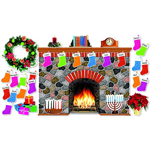 Holiday Hearth Bulletin Board (SC546913) (Decorations Christmas Hearth)