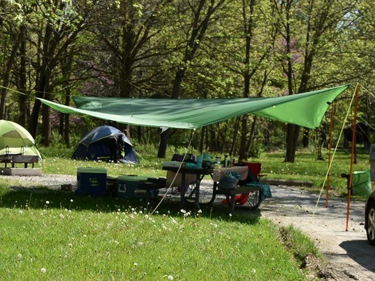 Kelty Noah's Tarp Sun Shelter-It worked great against the sun and rain