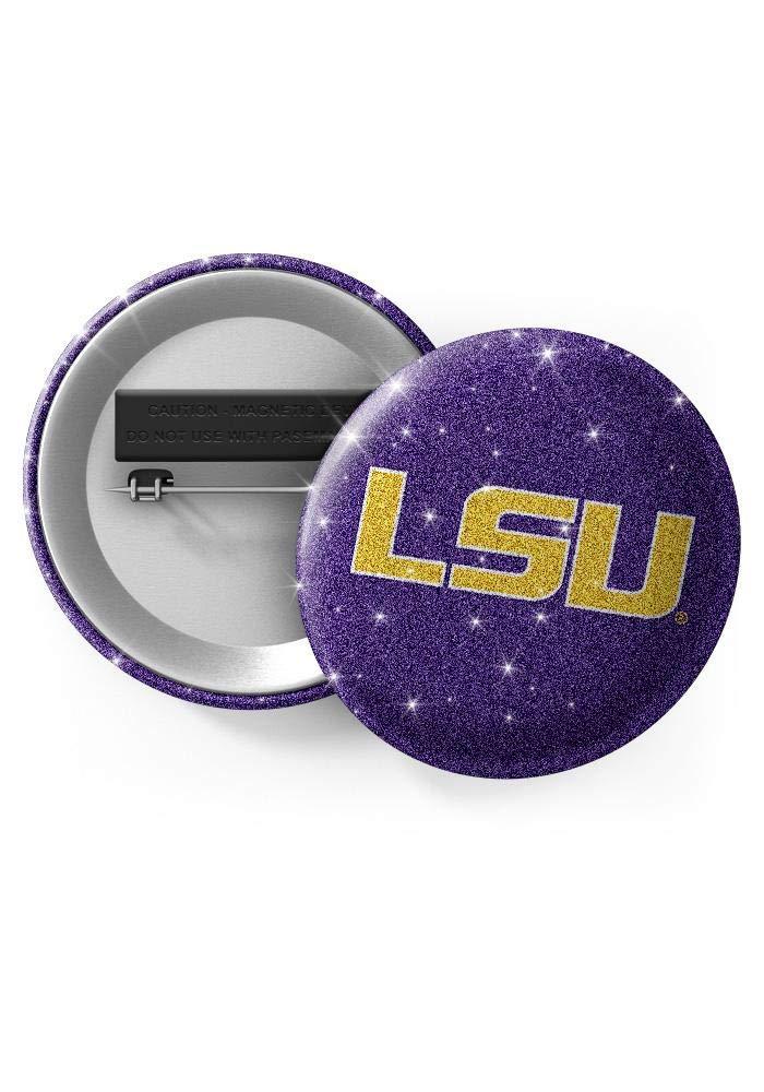Spirit Gear Central LSU Tigers Glitter Button Pins