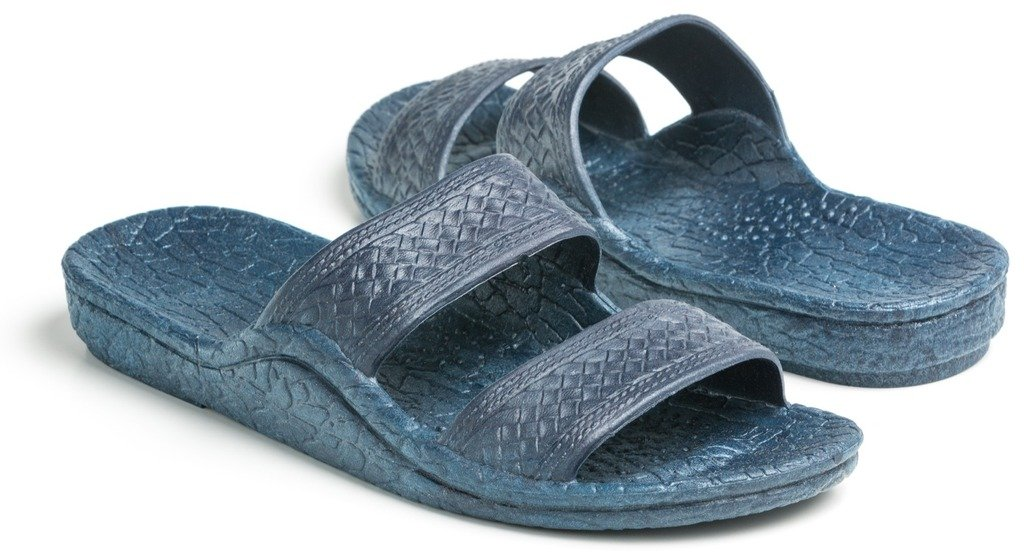 Pali Hawaii Unisex Adult Color Jandal Sandal (Navy, 11)