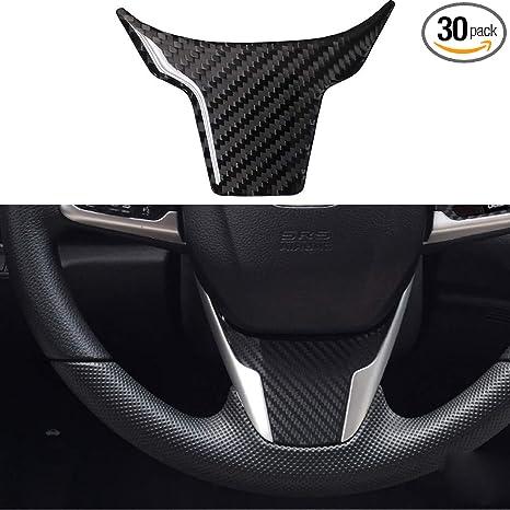 QGT Decorative Sticker Carbon Fiber Steering Wheel Cover Trim Decal Interior DIY Decorative Sticker for Honda Civic 10th Gen