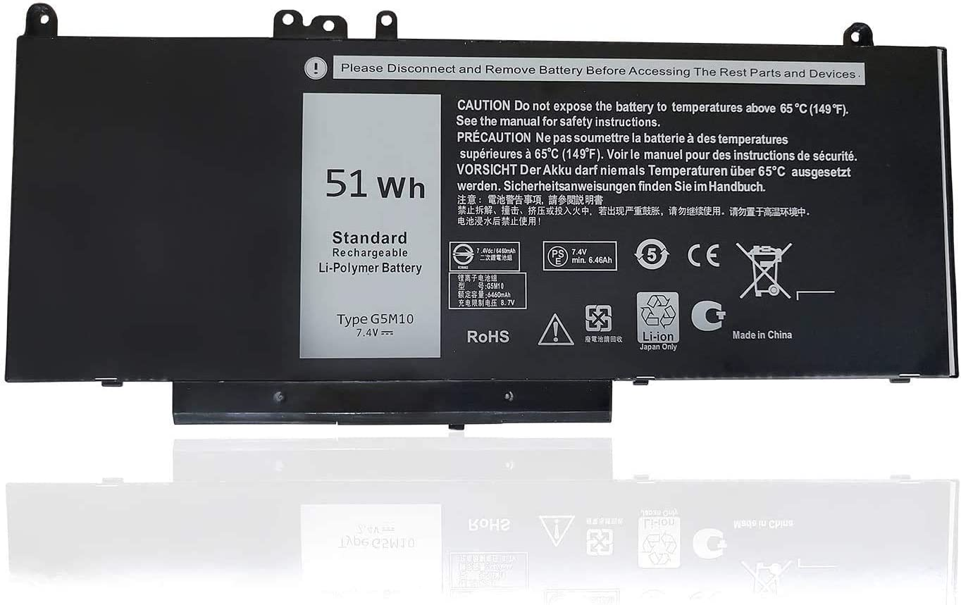 Fully G5M10 Replacement Battery Compatible with Dell Latitude E5450 E5550 Notebook 15.6