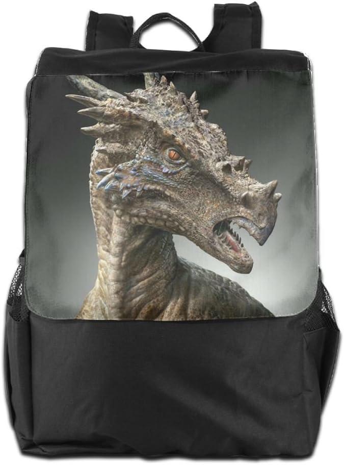 Coototo Dragon Unisex High-capacity Canvas Travel Bag School Bag Backpack Shoulders Bag For Men Women Student Teen