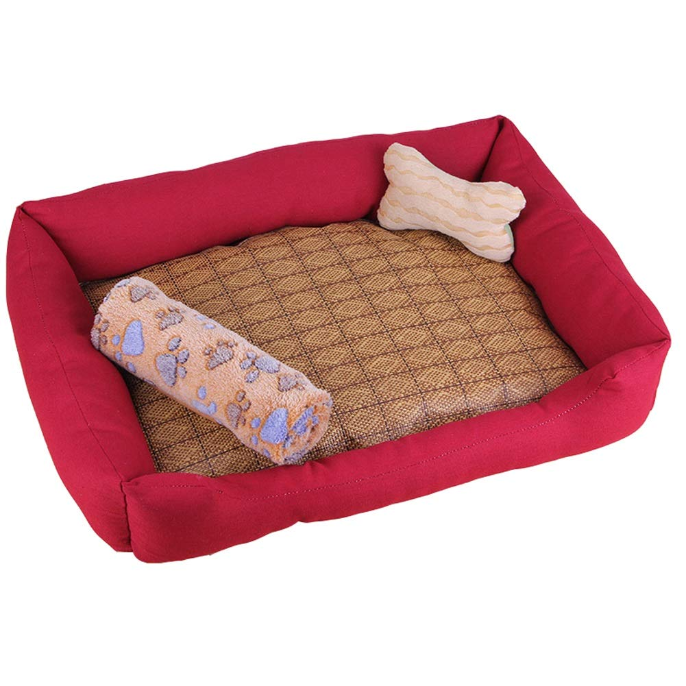 D L D L Pet house Kennel Washable Kennel Cat Nest For Small Dog Large Dog Pet Small Dog Winter Keep Warm (color   D, Size   L)