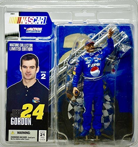 2004 - Action / McFarlane Series 2 - NASCAR - Jeff Gordon #24 - Signed Action Figure Package - Mature Collector - - Mcfarlane Doll