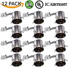 """Sunco Lighting 12 PACK - 6"""" inch Remodel LED Can Air Tight IC Housing LED Recessed Lighting- UL Listed and Title 24 Certified, TP24"""