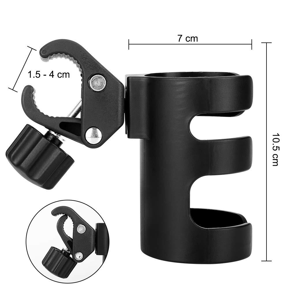 Accmor Stroller Cup Holder, Bike Cup Holder, Universal Cup Holder, 360 Degrees Rotation Drink Holder for Stroller, Walker, Wheelchair, Trolleys,2pack. by Accmor (Image #7)