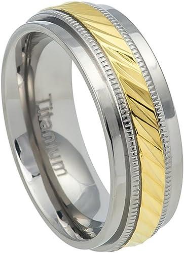 Titanium 7.5mm Step Edge Band Ring
