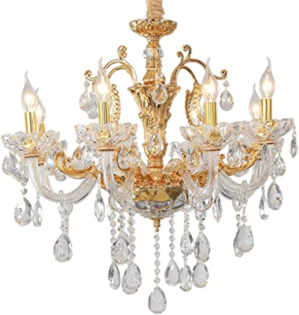 Fcx Light Exquisite Crystal Chandelier Classical Transparent Jewel Crystal Glass And Ceiling Chandelier Lighting Home Office Hotel Cafe Club Restaurant Gold 6light Amazon Co Uk Kitchen Home