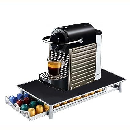 Screl – Expositor dispensador de cápsulas Nespresso tipo cajón de almacenamiento para 40 cápsulas