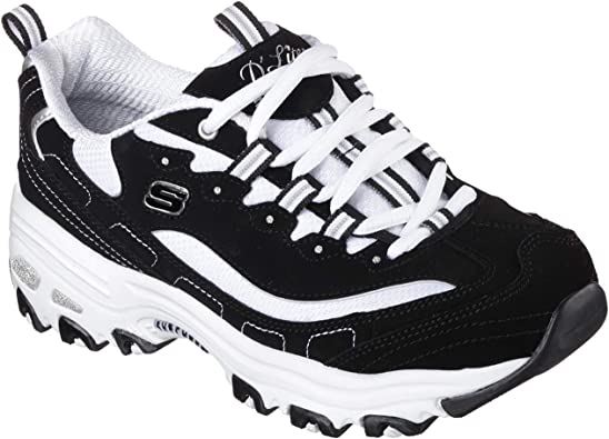 Details about NEW Skechers D Lites Biggest Fan 11930 BKW Women`s Shoes Trainers Sneakers SALE