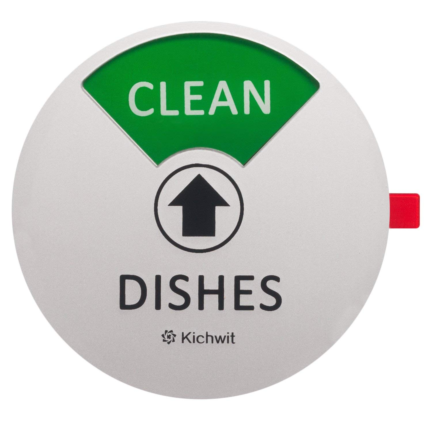 Kichwit dishwasher magnet clean dirty sign indicator works on all dishwashers non scratch strong magnetic backing residue free adhesive included 4 inch