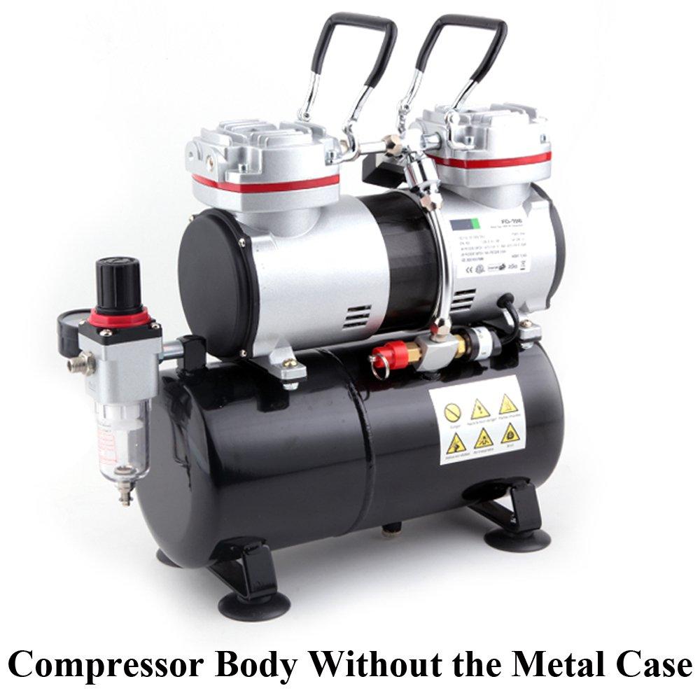 Compresor de aerógrafo Fengda FD-196A con calderín / regulador de presión / 3.5L / 6 bar / parada automática: Amazon.es: Bricolaje y herramientas