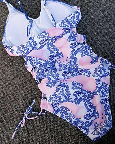 Mujer Una Pieza Traje de Baño Monokinis Natación Bañador Como Imagen