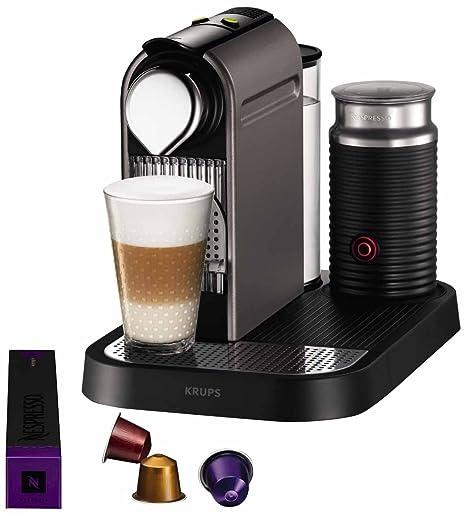 Krups YY1472FD Nespresso Citiz & Milk - Cafetera de monodosis con espumador de leche, color