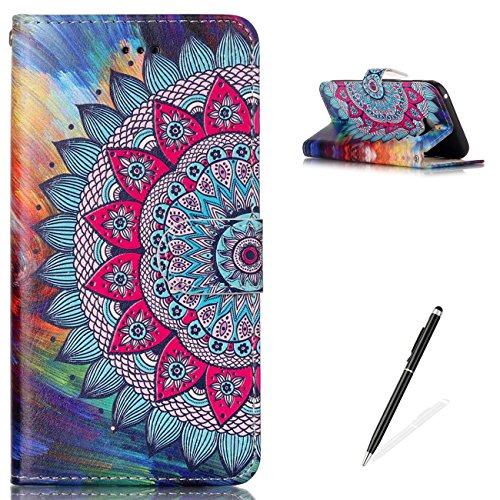 (MAGQI Samsung Galaxy A5 2017 Premium PU Leather Stand Wallet Case, Flip Book Style Shell Cute Animal Cartoon Painting with [Free 2 in 1 Stylus] Full Body Protective Cover -)
