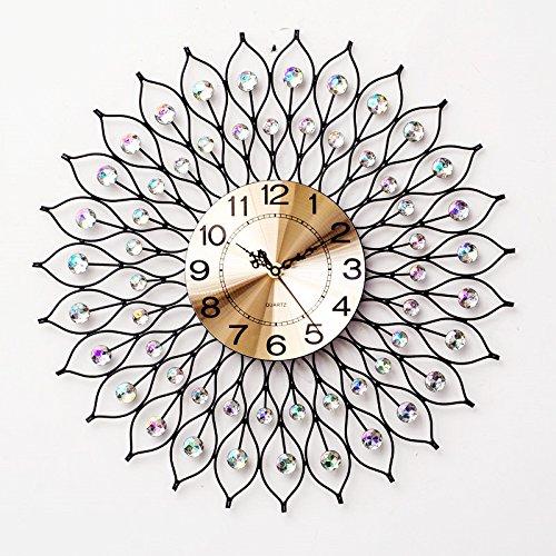 RFVBNM Classic Room creative clock modern European style wall chart minimalist decor personality mute 6060cm quartz clock
