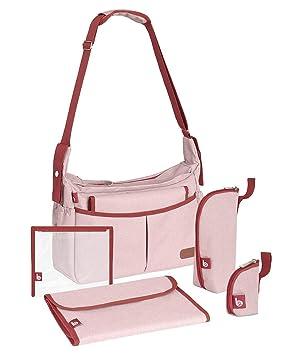 1bc948c060 Babymoov BADABULLE Urban Sac à Langer avec Accessoires/Bandoulière Rose