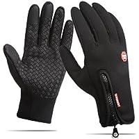 Heyuni. Waterproof Touchscreen Cycling Gloves Winter Warm Full Finger Outdoor Ski Snow Bike Women Men Adjustable Size Glove for Smart Phone