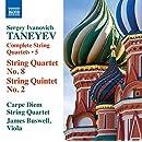 Sergei Ivanovich Taneyev: Complete String Quartets, Vol. 5
