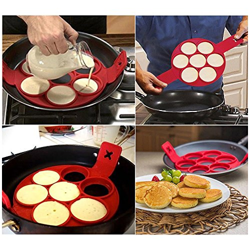 Non Stick Pancake Pan Flip Perfect Breakfast Eggs Omelette Flipjack Maker Tools from Unknown
