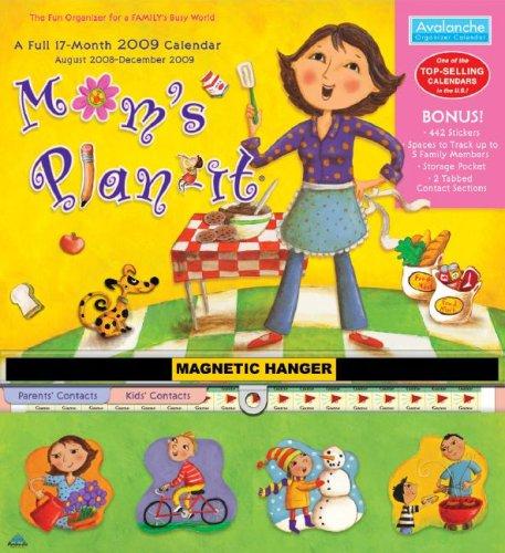 2008 Motivational Sticker Book - Mom's Plan-it Plus 2009 Calendar: With Magnetic Hanger