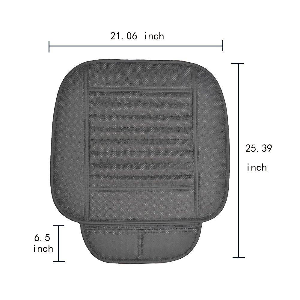 Fodera Traspirante per Sedile Interno Auto con Pelle PU Carbone di bamb/ù Big Ant Cuscino per Sedile Auto per Sedia da Ufficio