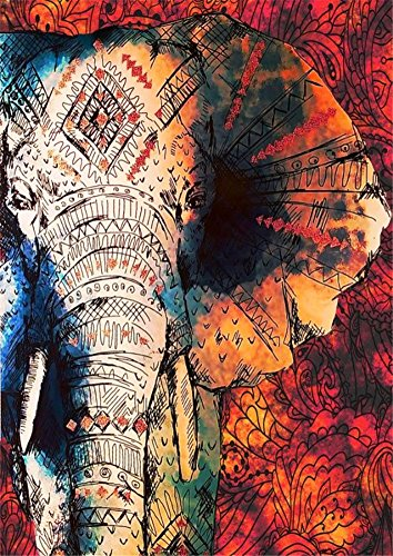 Boho Psychedelic Elephant Tree Of Life Floral Tapestry