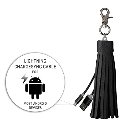 Amazon.com: Micro USB y cable Lightning llavero – iPhone y ...