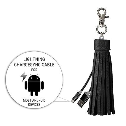 Amazon.com: Micro USB y cable Lightning llavero – iPhone y ...