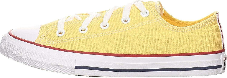 Converse Chuck Taylor All Star Ox Topaz Gold/Granate/Blanco Lona Júnior Entrenadores Zapatos