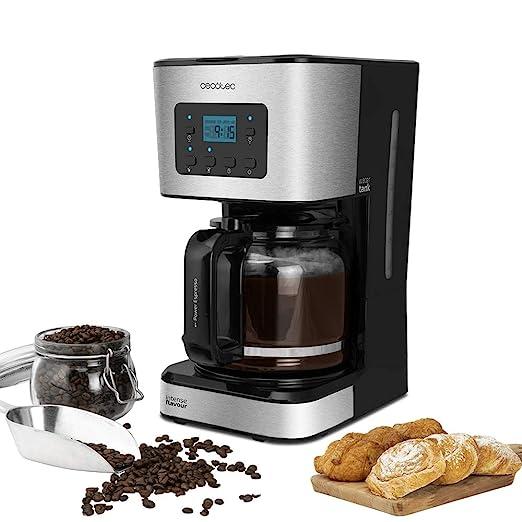 Cecotec Cafetera Goteo Coffee 66 Smart. Tecnología ExtremeAroma, Digital con Pantalla LCD, Capacidad 1,5l (12 tazas), Función Recalentar y Mantener ...