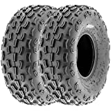 SunF 20x7-8 20x7x8 ATV UTV A/T Knobby Race Replacement 6 PR Tubeless Tires A029, [Set of 2]