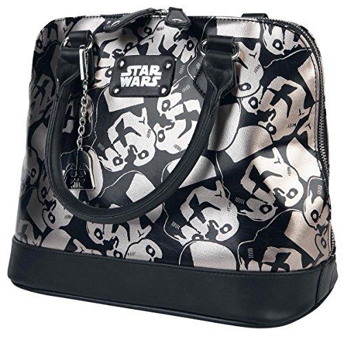 Star Wars Trooper Dome Satchel Ladies Handbag with Metal Charm (Darth Vader Purse)