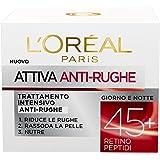 L'Oréal Paris Attiva Antirughe Crema Viso Intensivo Anti-Rughe, 50 ml