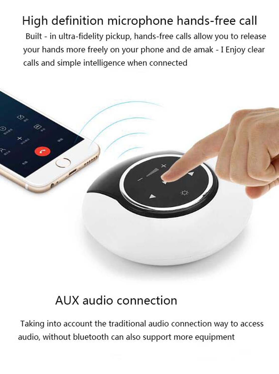 Amazon.com: Bluetooth Speaker Portable Bluetooth 4.0 Stereo Speaker with 24 Hours Playback Time, 6W Dual Driver, Low Harmonic Distortion, Suitable for ...