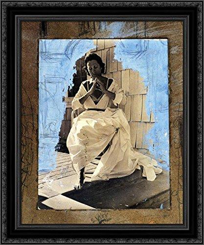 Gala as Madonna of Port Lligat 24x20 Black Ornate Wood Framed Canvas Art by Salvador -